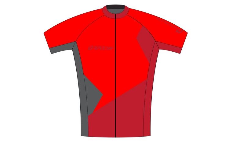 dres SUP pánský volný červeno-šedý S